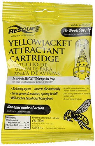 (9-pack RESCUE!Yellow Jacket Attractant Cartridge; It works inside the RESCUE!Reusable Yellowjacket Trap to lure all major species of yellowjackets;Will not lure beneficial honeybees;Non-toxic)