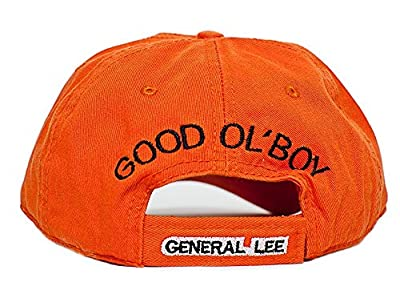 New General Lee Orange Embroidered Cotton Twill Cap Hat Dukes of Hazzard