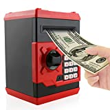 Jhua Piggy Bank Cash Coin Can Password Electronic Money Bank Safe Saving Box ATM Bank Safe Locks Panda Smart Voice Prompt Money Piggy Box for Children