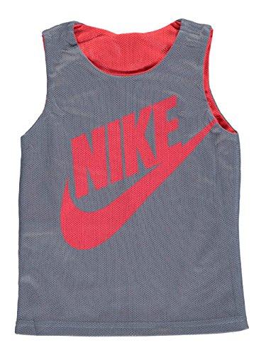 Nike Little Boys' Reversible Mesh Tank Top (Sizes 4 - 7) - gray/red, 6