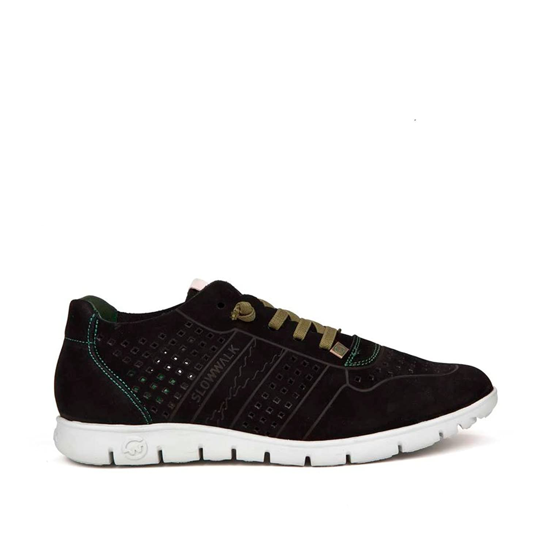 Sneaker Zapatilla Hombre MORVI Nobuck Negro Slowwalk -