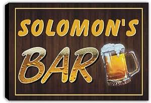 scpv1–0605Salomón 's Bar cerveza taza Pub estirada Impresión de Lienzo Sign