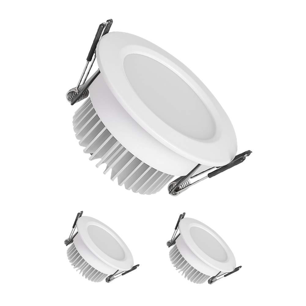 Down light fixture 2 5 inch led downlight led recessed lighting fixture ceiling light black 5w amazon com