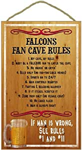 Atlanta Falcons Fan Cave Rules Wood Sign
