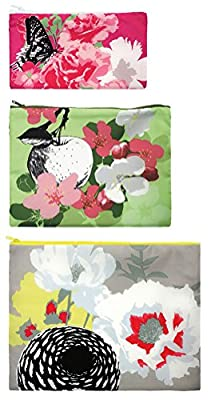 LOQI Prima Zip Pockets (Set of 3), Multicolor