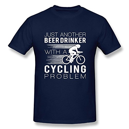 T-shirt CYCLING BEER DRINKER LIMITED EDITION Men's Round Neck Fashion Casual Graphic Short Sleeve Tees Tops Navy XXL - Beer Short Sleeve Cycling Jersey