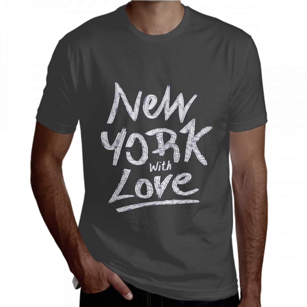 Men Shirt Short Sleeve New York Typography Fascinating Pretty Men Tee