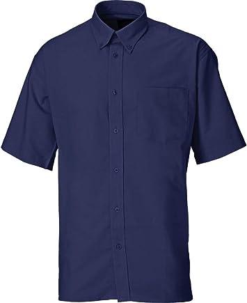 Dickies SH64250 BU 15+ - Camisa de manga corta, estilo Oxford, color azul, talla 39, azul, SH64250 NV 15