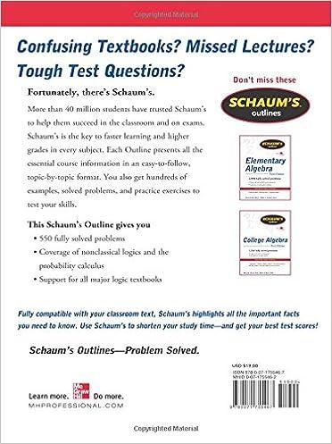 Schaum's Outline of Logic, Second Edition (Schaum's Outlines ...