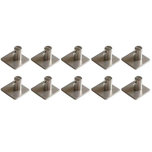 Lunji - Gancho de pared de acero inoxidable, 10 unidades 3M ...