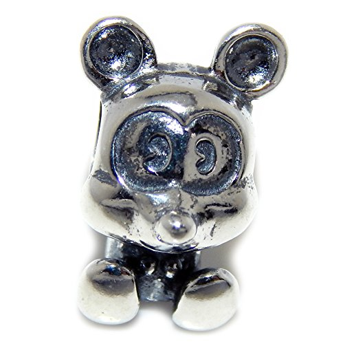 Pro Jewelry 925 Solid Sterling Silver Cartoon Mouse Charm Bead (And Pluto Mickey Christmas Cartoon)