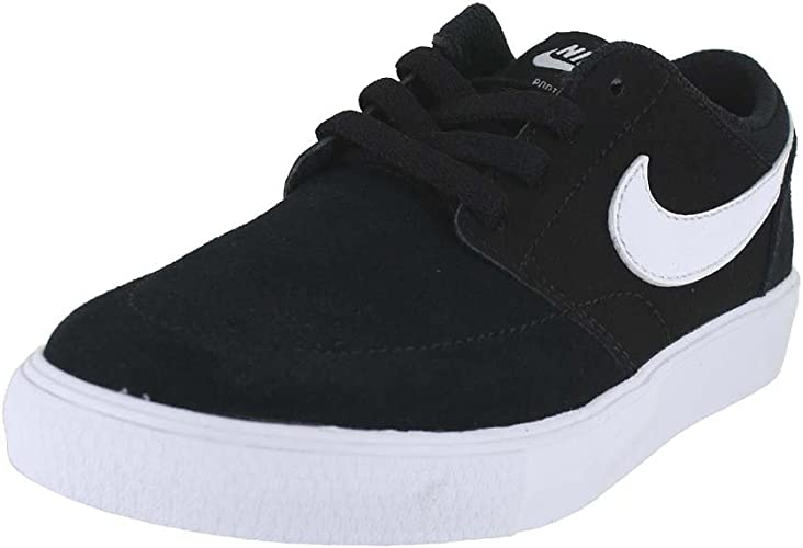 Nike SB PORTMORE Trainers black white black Kids