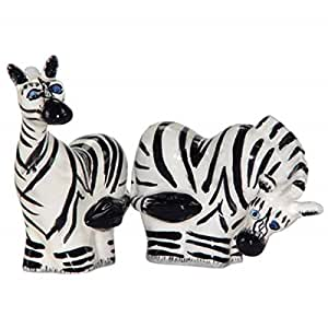 3.5 Inch Zebras Salt and Pepper Shakers Kitchenware Collectible