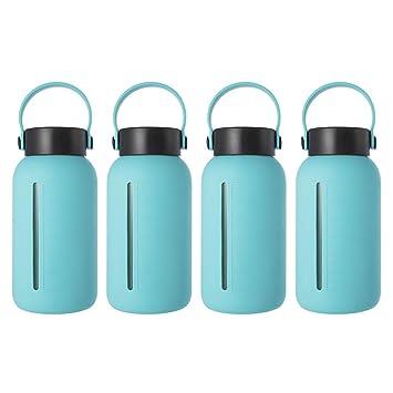 Amazon.com: Botella de agua de cristal grande de MIU COLOR ...