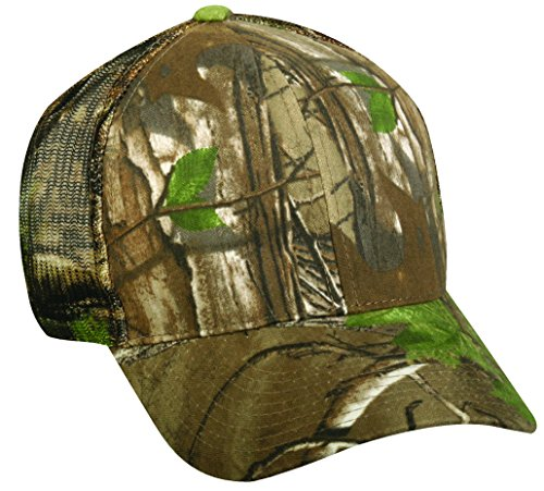 Realtree Adjustable Plastic Snap Closure Blank Mesh Back Cap, Realtree Xtra Green ()