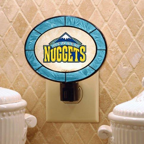 NBA Denver Nuggets Hand-Painted Glass Nightlight
