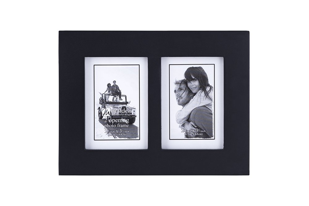 Amazoncom Malden Double 2x3 Picture Frame Wide Real Wood