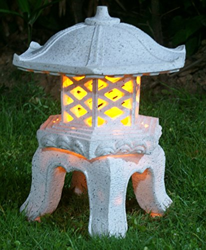 "TIAAN 14""height Japanese style lantern Solar garden lamp Solar pagoda light Review"