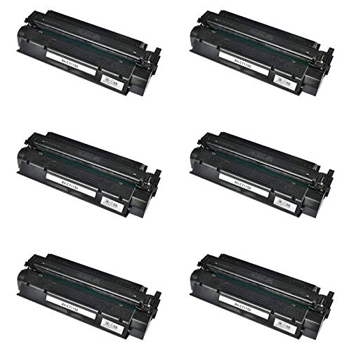 KCYMTONER 6 Packs Compatible High Yield C7115X Toner Cartridge Replacement for Hewlett Packard use with HP 15X LaserJet 1000 1005 1150 1200 1300 3300 3310 3320 3330 3380 1220 1200n ()