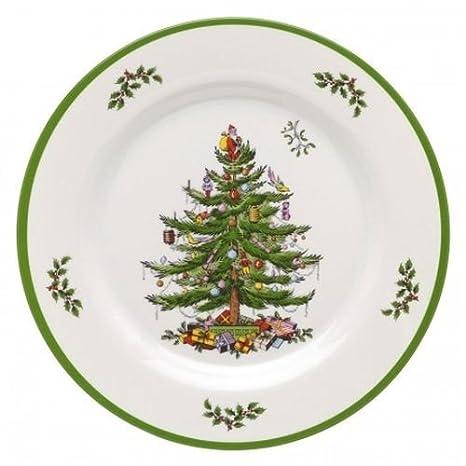 Melamine Christmas Platters.Spode Christmas Tree Melamine Dinner Plate Set Of 4