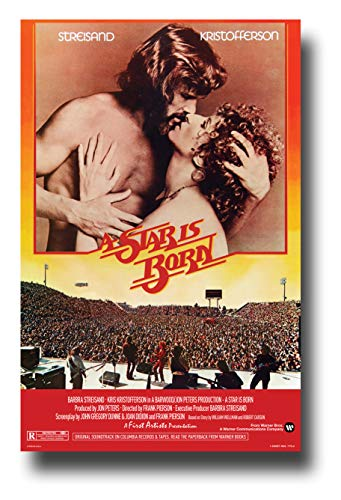 - A Star is Born Poster Movie Promo 11 x 17 inches 1970s Streisand Kristofferson Kiss