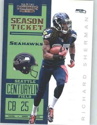 2012 Panini Contenders Playoff Season Ticket Football Card IN SCREWDOWN CASE #86 Richard Sherman Top Load