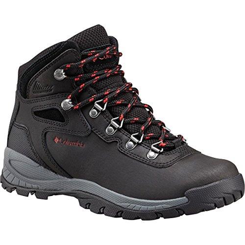 Columbia Women's Newton Ridge Plus Hiking Boot, Black/Poppy Red, 7.5 Regular US