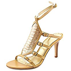 Donald J Pliner Women's Tena Dress Sandal, Dark Brown Burnished Calf, 7 M US