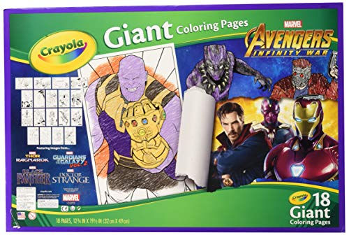 Crayola Avengers Infinity War, Giant Coloring Pages, Gift for Kids, 18 Pages (Styles May Vary)