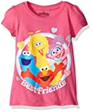 Sesame Street Girls Toddler Girls Best Friends Short-Sleeved Puff T-Shirt
