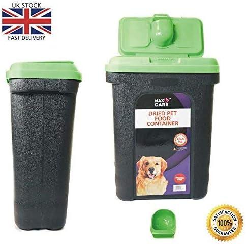 Pilot Imports Pet Dry Food Storage Bin Container Dog Cat Animal Bird Seeds Storage Box Tub (Green)