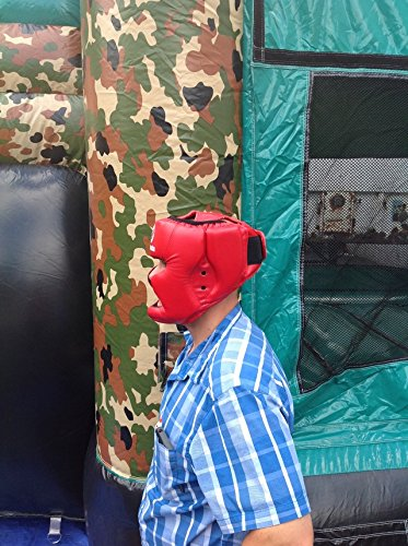 Replacement Red Boxing and Jousting Helmet and Headgear with Reinforced Seams for Interactive Inflatable Fighting Arena or Ring Games, Universal Size by TentandTable (Image #6)