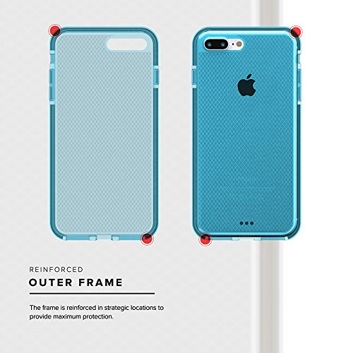 Zizo Coque pour iPhone 7 Plus Bleu/Argent