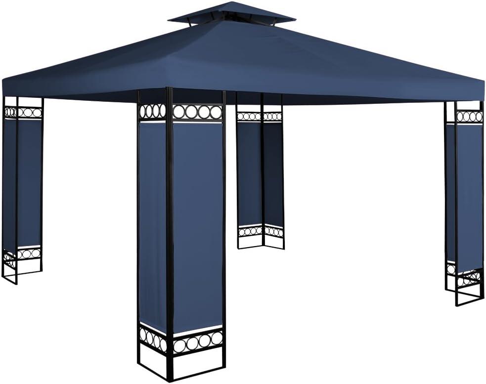 Deuba Carpa de 3 x 3 m Lorca con protección UV 50+ cenador pabellón de jardín Color Azul para Exterior hidrófugo: Amazon.es: Jardín