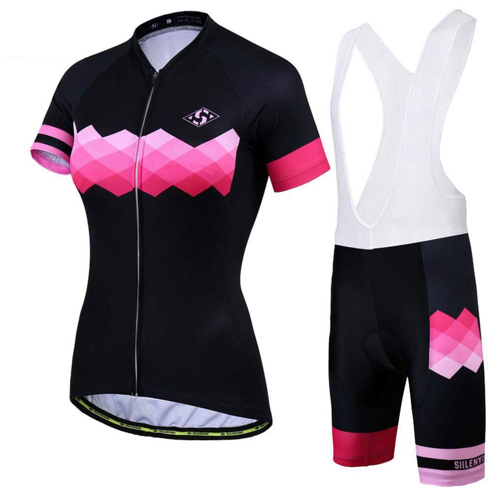 B XSmall Woman Sleeveless Cycling Jersey Kit Suits Bike Clothing Cycling Bib Shorts with Gel Padded