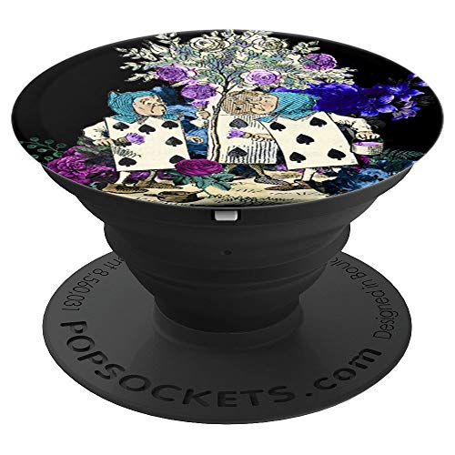 Alice in Wonderland Rose Garden Painting Roses - PopSockets Grip and Stand for Phones and Tablets