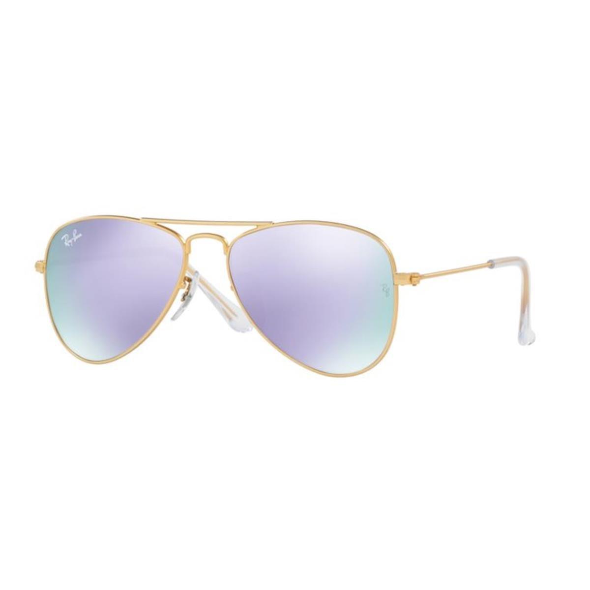 1e69c69fe9 Amazon.com  Ray-Ban Jr. Kids Aviator Kids Sunglasses (RJ9506) Gold  Matte Purple Metal - Non-Polarized - 50mm  Ray-Ban Junior  Clothing
