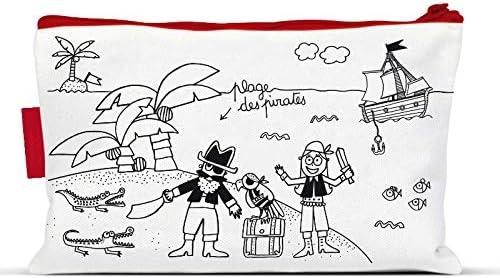 Estuche escolar para colorear (Marielle bazard pirata – labeltour: Amazon.es: Hogar