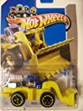 Hot Wheels 2013 Wheel Loader HW City #44/250 ~ Yellow with Blue Flame Cab