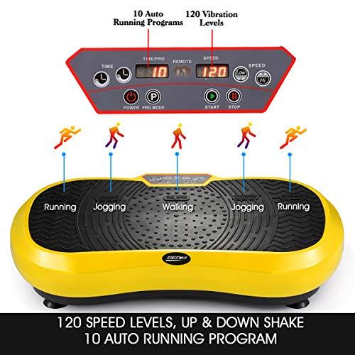 GENKI Fitness Vibration Platform Workout Machine Whole Full Body Shape Exercise Training Power Plate (Yellow) by GENKI (Image #1)