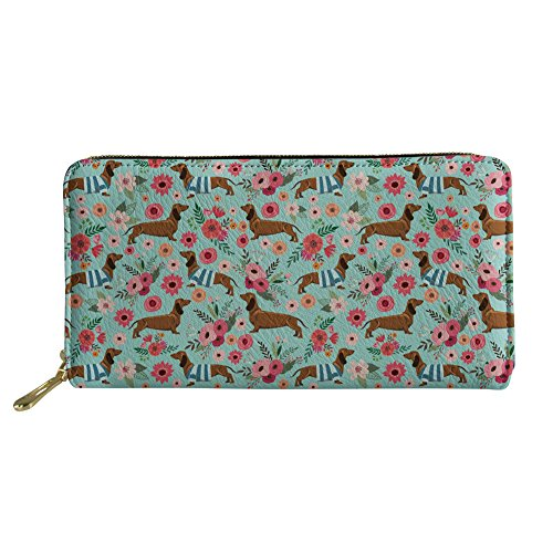 Showudesigns Dachshund Long Leather Wallet Clutch Women's, used for sale  Delivered anywhere in USA