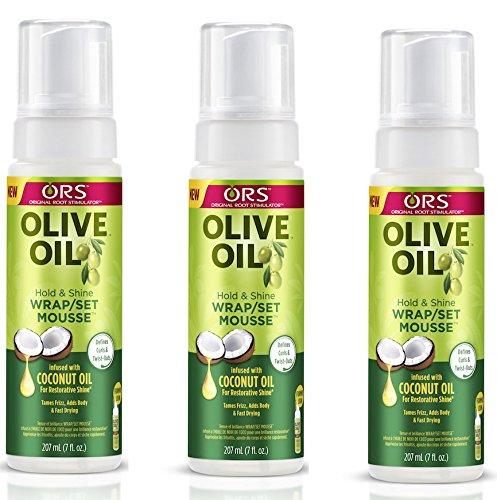 ORS OLIVE OIL HOLD & SHINE WARP/SET MOUSSE INFUSE W COCONUT