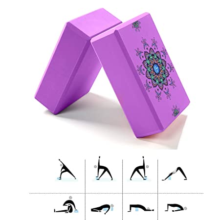 LKIHAH Alta Densidad De Espuma EVA Yoga Bloquear, Yoga Set ...