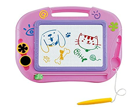 Magnetic Drawing Board For Kids- Erasable Colorful Magna Doodle Drawing Board Toys for Kids Writing Sketching Pad - Gift for Little Girls Kids Children Travel - Travel Pad
