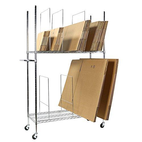 - Apollo Hardware Commercial Grade Chrome 2-Tier Wire Carton Storage Stand Unit