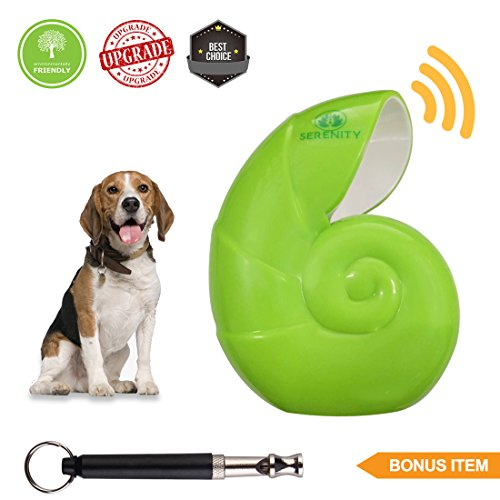Petserenity Indoor Ultrasonic Dog Bark Repellent Control Device-Safe Anti Barking Deterrent Noise Box Training Controller Inside House (New Model) Effective For Large/Medium/Small With Sonic Whistle