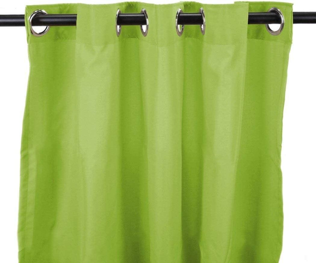 DH 1 pieza de 84 pulgadas Kiwi Color Gazebo cortina de un solo panel, color verde brillante patrón de color sólido Rugby colores fuera, al aire libre Pérgola Drapes Porch Deck Cabana