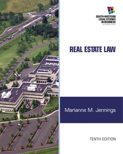 Real Estate Law (South-Western Legal Studies in Business Academic) from Brand: Cengage Learning