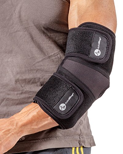 ActiveWrap Elbow Hot/Cold Therapy Wrap - Great For Sprained Elbows, Tendonitis, Arthritis, and Other Elbow Injuries - Hot/Cold Gel Packs Included (L) by AW ACTIVEWRAP