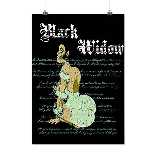 Funeral Widow Costume (Widow Sexy Girl Zombie Spider Curse Matte/Glossy Poster A2 (60cm x 42cm) | Wellcoda)